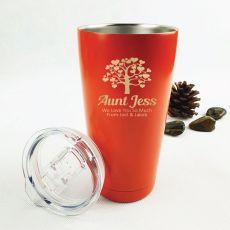 Auntie Insulated Vacuum Travel Mug 600ml Orange