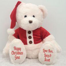 Personalised Christmas Teddy Bear Plush - Grandma