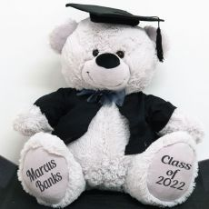 Personalised Graduation Bear with Cape Grey 40cm