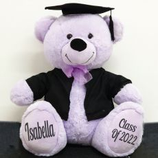 Personalised Graduation Bear with Cape Lavender 40cm