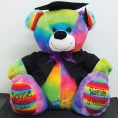 Personalised Graduation Bear with Cape Rainbow 40cm