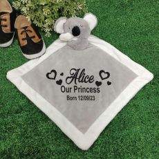 Personalised Baby Security Comforter Blanket -  Koala