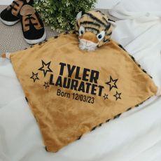 Personalised Baby Security Comforter Blanket - Tiger