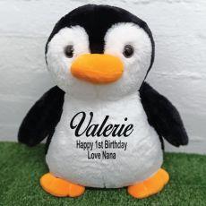 1st Birthday Bear 40cm Pecky Penguin Plush