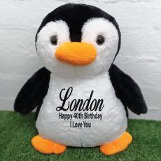40th Birthday Bear 40cm Pecky Penguin Plush