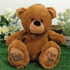 Personalised Message Bear 30cm Brown