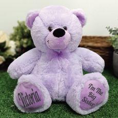 Big Sister Teddy Bear 30cm Lavender