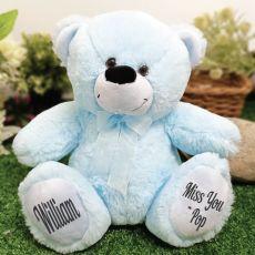 Personalised Message Bear 30cm Light Blue