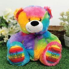 Flower Girl Teddy Bear 30cm Rainbow