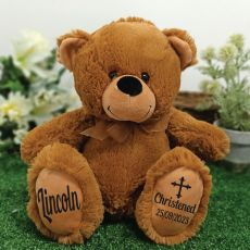 Christening Personalised Teddy Bear 30cm Brown