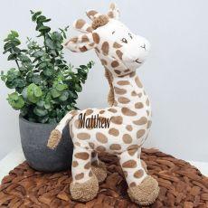 Personalised Safari Giraffe 30cm