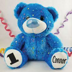 1st Birthday Teddy Bear 40cm Hollywood Blue