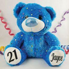 21st Birthday Teddy Bear 40cm Hollywood Blue