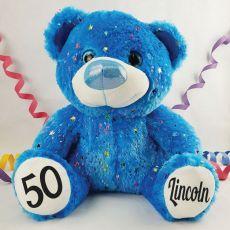 50th Birthday Teddy Bear 40cm HollywoodBlue