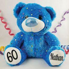 60th Birthday Teddy Bear 40cm Hollywood Blue