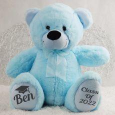 Graduation Personalised Teddy Bear 40cm Plush Bright Blue