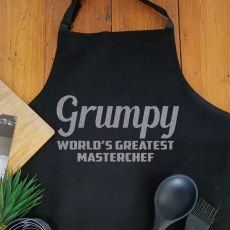 Grandpa Personalised  Apron with Pocket - Black
