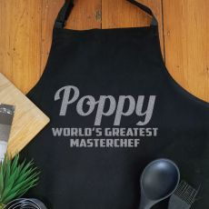 Pop Personalised  Apron with Pocket - Black