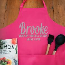 Personalised  Apron with Pocket - Pink