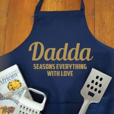 Dad Personalised  Apron with Pocket - Navy