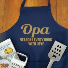 Grandpa Personalised  Apron with Pocket - Navy