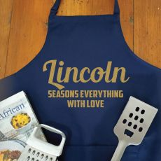 Personalised  Apron with Pocket - Navy