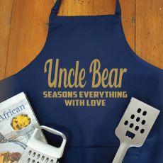 Uncle Personalised  Apron with Pocket - Navy