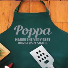 Pop Personalised  Apron with Pocket - Pea Green
