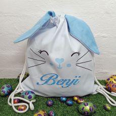 Easter Bunny Basket PJ Hunt Bag - Blue