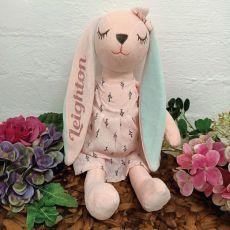 Hallie Bunny Keepsake Plush Pink Dress