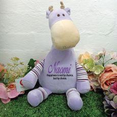 Oeko Purple Giraffe Cubby Plush
