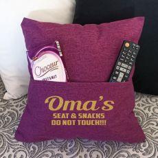 Grandma Personalised Pocket Reading Pillow Cover Plum