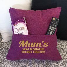 Mum Personalised Pocket Reading Pillow Cover Plum