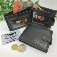 Pop Personalised Black Leather Wallet RFID