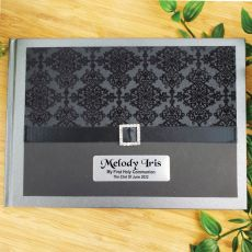 Personalised Hens Party Guest Book- Baroque Black