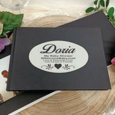 Personalised Black Baby Shower Guest Book