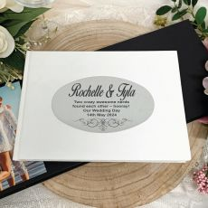 Personalised White Wedding Guest Book