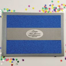 Graduation Personalised  Glitter Guest Book- Blue