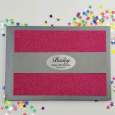 40th Birthday Personalised  Glitter Guest Book- Pink