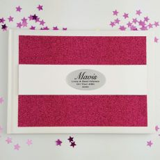 Personalised 40th Birthday Guest Book- Pink Glitter