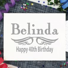 Personalised 40th Birthday Guest Book Album - White A4