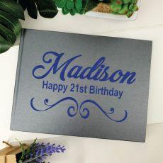 21st Birthday Guest Book Keepsake Album - A5 Grey