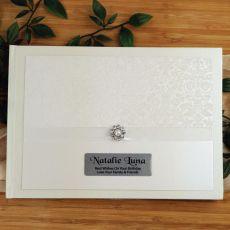 Personalised Guest Book Album - Cream Pearl