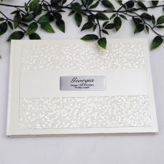 18th Birthday Guest Book Keepsake  Album - Cream Pebble