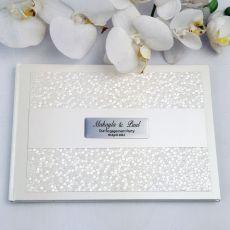 Engagement Guest Book Keepsake Album- Cream Pebble
