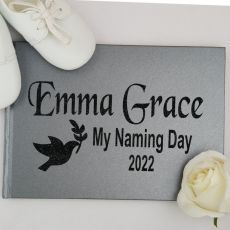 Naming Guest Book Keepsake Album - Grey A5