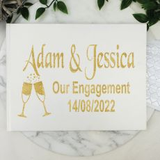 Engagement Guest Book Keepsake Album - White A5