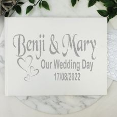 Wedding Guest Book Keepsake Album - White A5