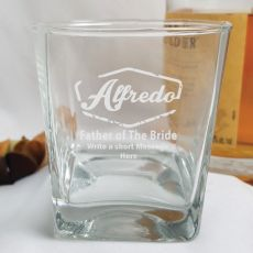 Father Of The Bride Engraved Personalised Scotch Spirit Glass