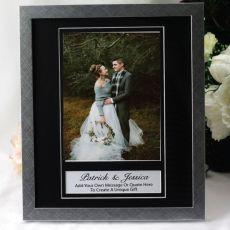 Wedding Personalised Photo Frame 6x8 Black/Silver